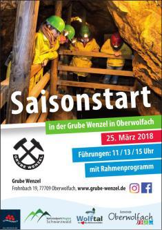 Eröffnung der Saison 2018 im Besucherbergwerk Grube Wenzel in Oberwolfach