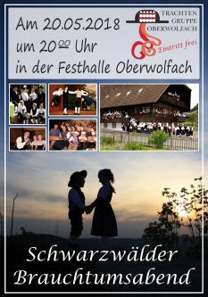 Schwarzwälder Brauchtumsabend der Trachtengruppe Oberwolfach