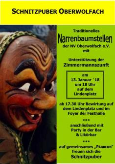 Plakat Narrenbaumstellen 2018