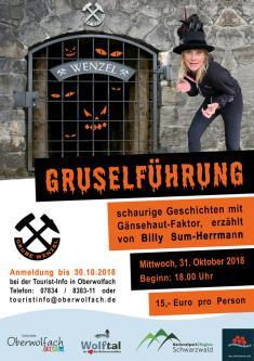 Gruselführung durch die Grube Wenzel mit Billy Sum-Herrmann