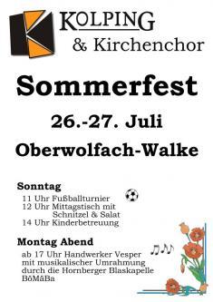 Sommerfest der Kolpingfamilie und der Kirchenchorgemeinschaft